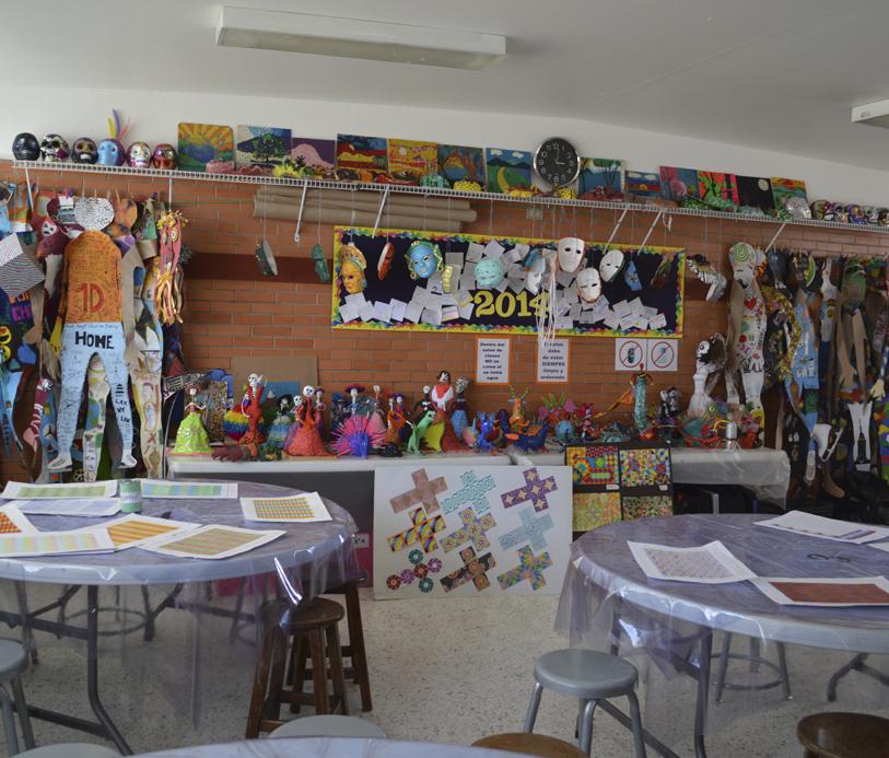Colegio Buena Tierra, Salones de arte